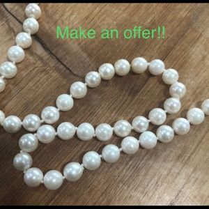 """Make an offer!! Genuine Pearl necklace, 24"""""""
